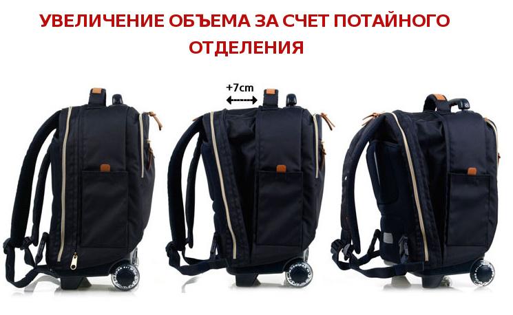 Школьный рюкзак на колесах - ранец Wheelpak Classic Navy - арт. WLP2201 (для 3-5 класса, 21 литр), - фото 14