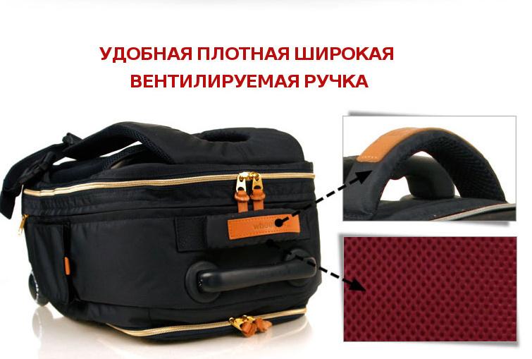 Школьный рюкзак на колесах - ранец Wheelpak Classic Wine - арт. WLP2200 (для 3-5 класса, 21 литр), - фото 17