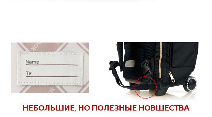 Школьный рюкзак на колесах - ранец Wheelpak Classic Navy - арт. WLP2201 (для 3-5 класса, 21 литр), - фото 10