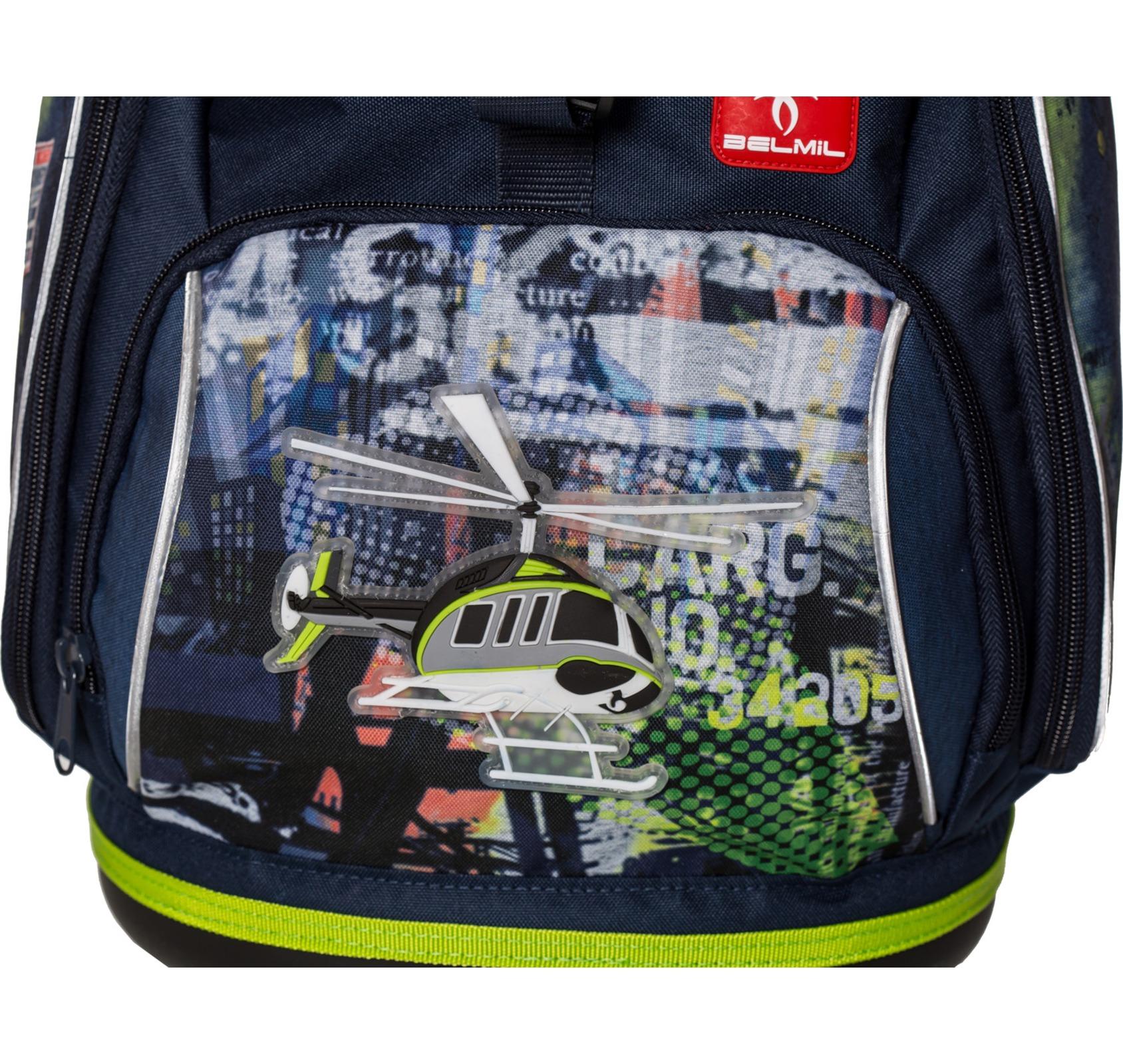 Ранец-рюкзак Belmil 404-31/476 цвет Helicopter Новинка, - фото 2