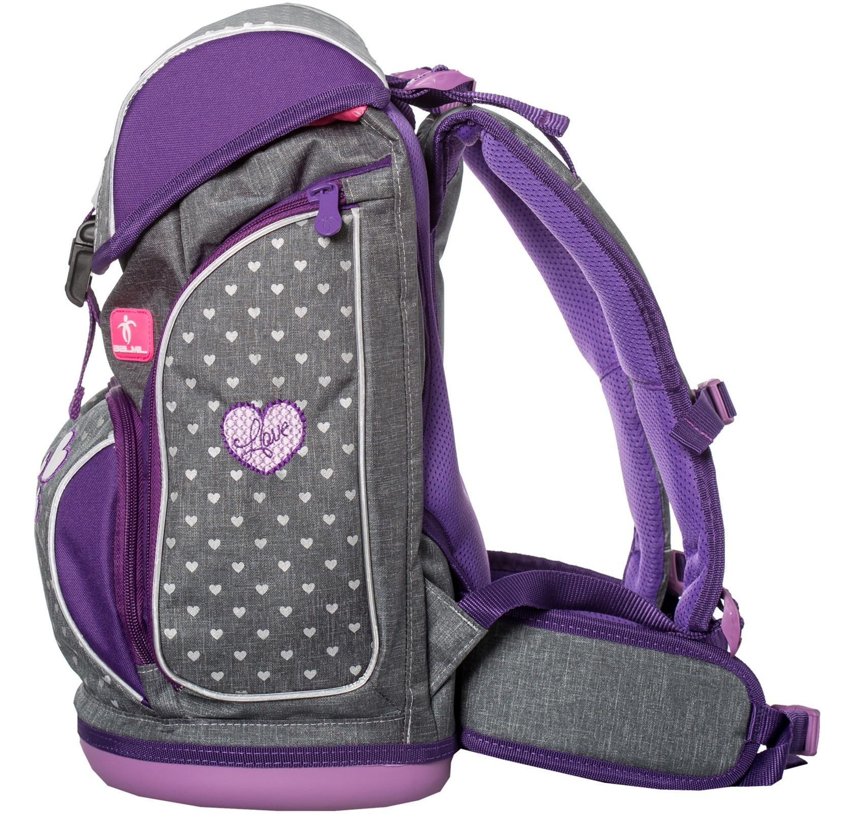 Ранец-рюкзак Belmil 404-31/468 цвет Heart Новинка, - фото 4