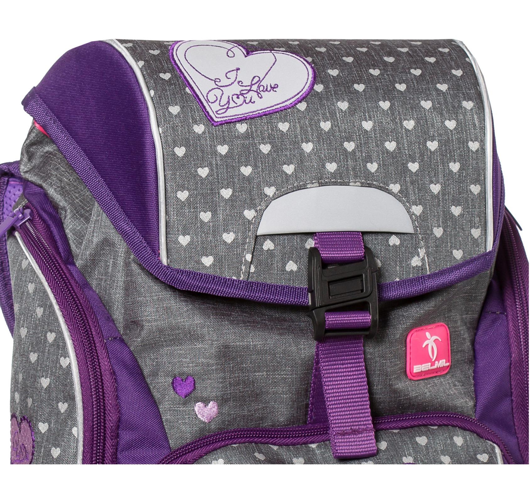 Ранец-рюкзак Belmil 404-31/468 цвет Heart Новинка, - фото 2