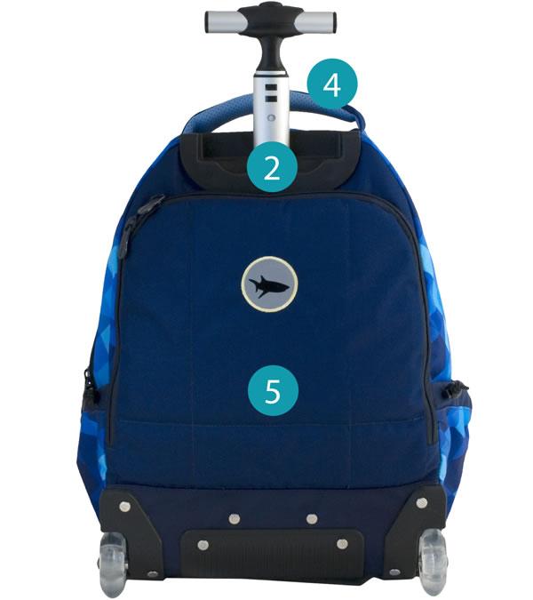 Рюкзак на колесиках с выдвижной с ручкой Belmil BLUE MAGIC 338-45/772, - фото 13