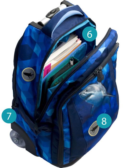 Рюкзак на колесиках с выдвижной с ручкой Belmil BLUE MAGIC 338-45/772, - фото 10