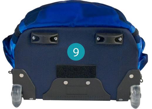 Рюкзак на колесиках с выдвижной с ручкой Belmil BLUE MAGIC 338-45/772, - фото 14