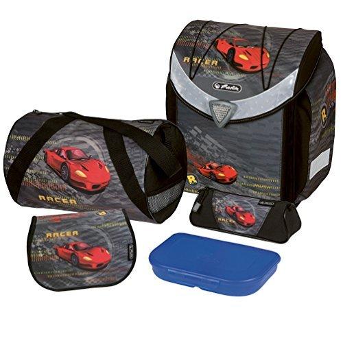 Школьный ранец Herlitz Flexi Plus RED RACER с наполнением, - фото 1