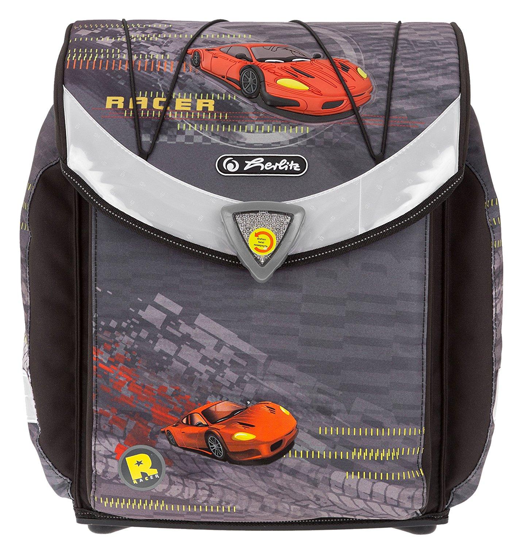 Школьный ранец Herlitz Flexi Plus RED RACER с наполнением, - фото 4