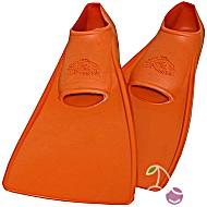 Ласты детские эластичные маленький размер 22 оранжевые закрытая пятка SwimSafe (Свимсейф) Германия