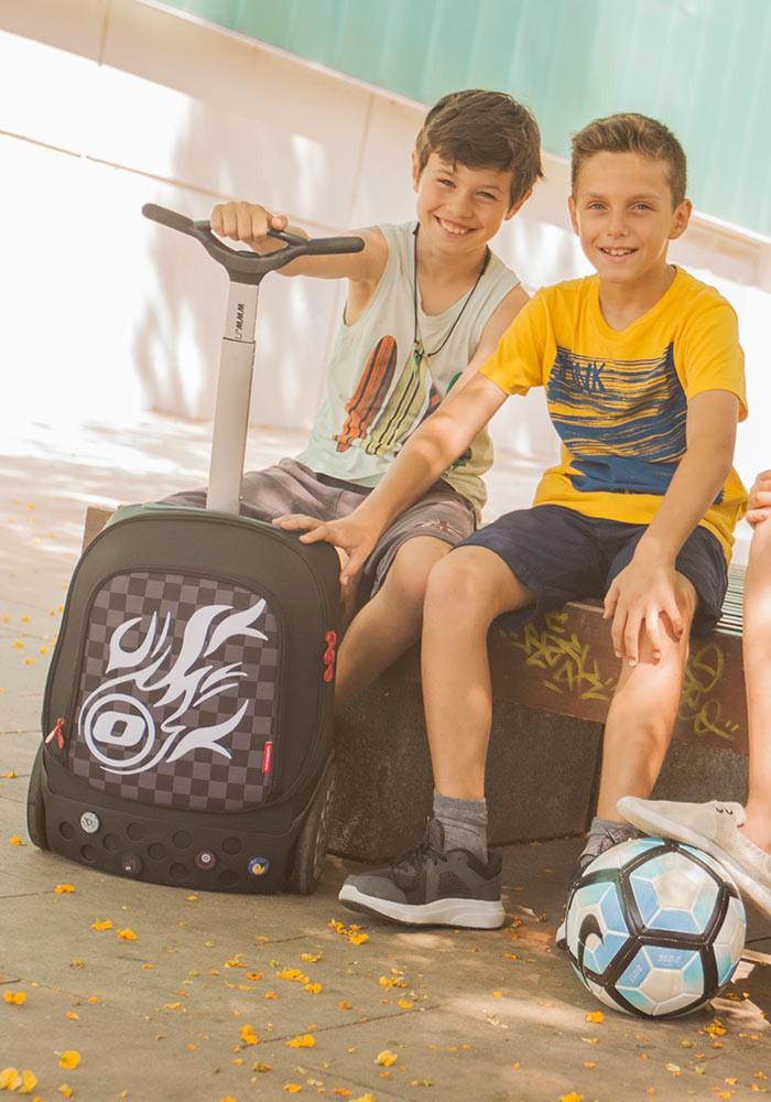 Рюкзак на колесиках Roller White Fire Nikidom Белый Огонь арт. 9019 (19 литров), - фото 3