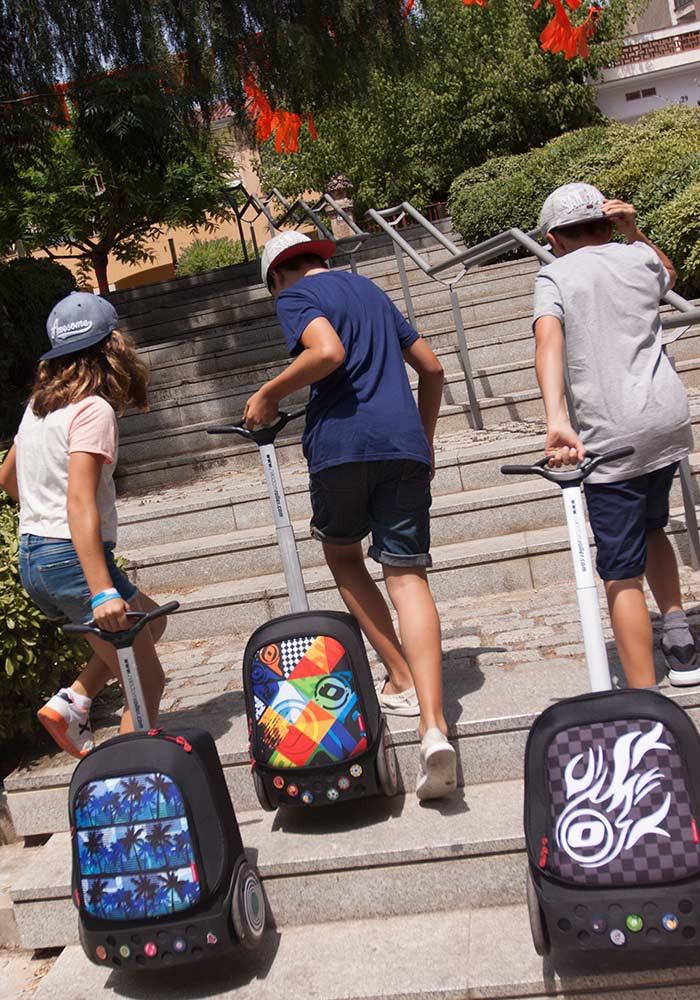 Рюкзак на колесиках Roller White Fire Nikidom Белый Огонь арт. 9019 (19 литров), - фото 4