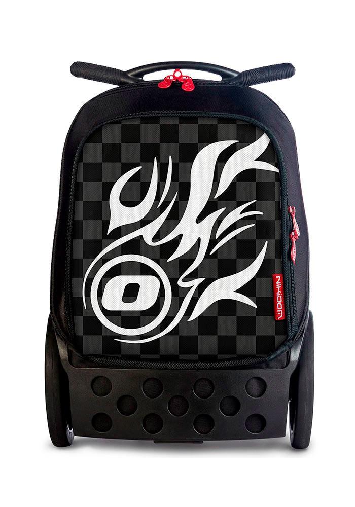 Рюкзак на колесиках Roller White Fire Nikidom Белый Огонь арт. 9019 (19 литров), - фото 1