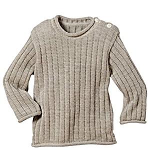 Одежда Disana свитер 100% шерсть цвет серый